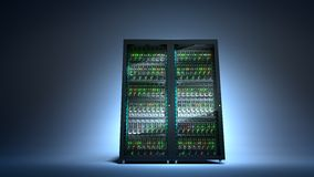 Server. Cloud computing data storage 3d rendering Stock Images