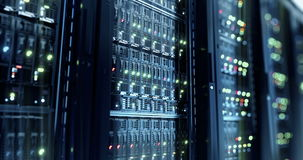 Server. Cloud computing data storage 3d rendering stock footage