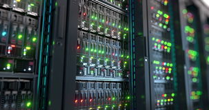 Server. Cloud computing data storage 3d rendering