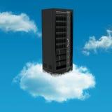 Server cloud. Conceptual image of a server cabinet on a cloud Stock Photos