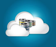 Server cloud connection illustration Royalty Free Stock Image