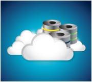 Server clouds illustration design Stock Photography