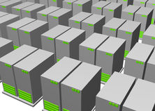 Server Clusters For Data Warehousing Clip Art. Isolated Royalty Free Stock Photography