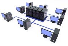 Server com muito PC Imagens de Stock Royalty Free