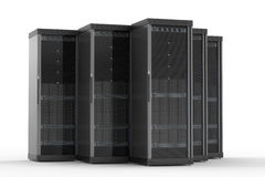 Server computer cluster Royalty Free Stock Photo