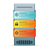 Server Computer Copyspace Design Element Royalty Free Stock Image