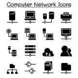 Server & Computer network icon set. Illustration Graphic Design Royalty Free Stock Photography