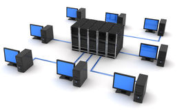 Server and computers Royalty Free Stock Photography