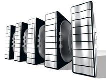 Server con metallo d'argento Fotografie Stock Libere da Diritti