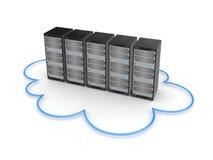 Server concept. Isolated on white background.3d rendered illustration Stock Image