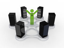 Server concept. on white background. 3d rendered Royalty Free Stock Photography