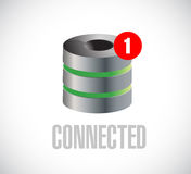 Server connected communication concept message. Royalty Free Stock Images