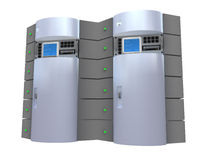 Server d'argento 3d Fotografia Stock