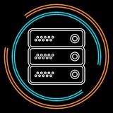 Server data racks illustration - computer storage vector illustration