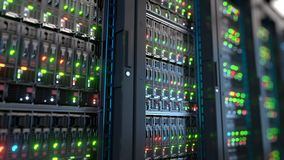 Server in datacenter. Cloud computing data storage 3d rendering Stock Image