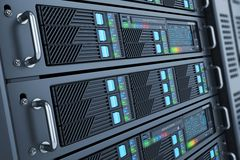 Server datacenter panels Stock Image