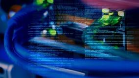 Server-Datenkabelvideo stock video footage