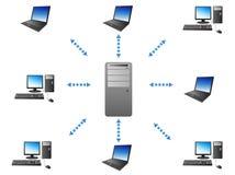 Server - de mededeling van de Cliënt Stock Afbeelding