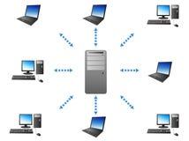 Server - de mededeling van de Cliënt stock illustratie