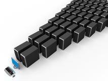 Server de rede Fotografia de Stock