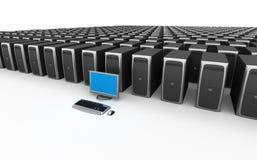 Server de rede Imagem de Stock