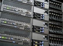 Server del calcolatore del centro dati Immagine Stock