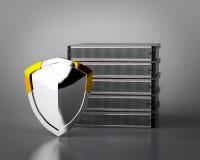 Server del computer con lo schermo Fotografia Stock Libera da Diritti