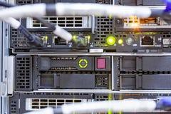 Server. Detail of modern hi tech data server in network center Stock Images
