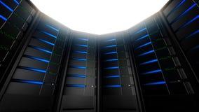 Server di rete nel cerchio (ciclo) video d archivio