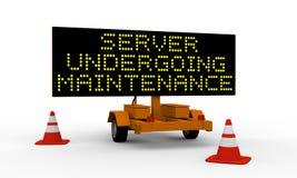 Server die onderhoud ondergaat royalty-vrije illustratie