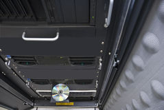 Server do computador da cremalheira Imagem de Stock Royalty Free