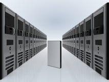 Server do computador e caso de DVD Fotografia de Stock