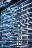 Server e cavi Fotografie Stock Libere da Diritti