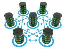 Server e collegamenti royalty illustrazione gratis