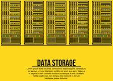 Server e concetto di archiviazione di dati Fotografia Stock Libera da Diritti