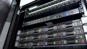 Server e fusibile di stoccaggio HDD video d archivio