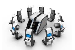 Server e rete ATM Immagini Stock