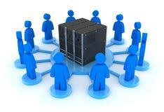 Server ed utenti Fotografie Stock Libere da Diritti