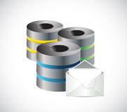Server emails. communication protection. Stock Photos