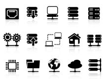 Server en gegevensbestandpictogram Royalty-vrije Stock Foto