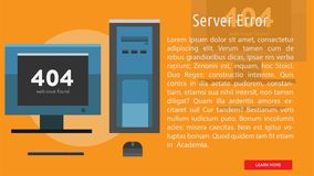 Server Error Conceptual Banner. Great banner design illustration concepts for maintenance, website, internet, network and much more Royalty Free Stock Photo