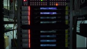 Server für Fernsehsendungsnahaufnahme stock video footage