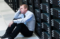 Server failure Stock Photo