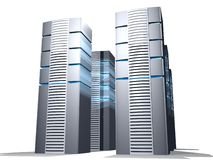 Server farm. Over white for web design and designers Stock Photo