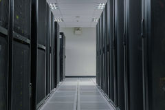 Server farm in data center Stock Images
