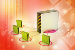 Server with file folder Royalty Free Stock Image