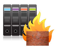 Server firewall Stock Photo