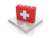 Server first aid. 3D rendered Illustration.Server first aid Stock Image