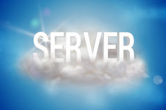 Server on a floating cloud Royalty Free Stock Photos