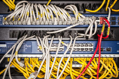 Free Server Front Side Closeup Showing Wiring Stock Images - 27251734